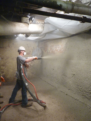 Shotcrete wall restoration services in Ottawa