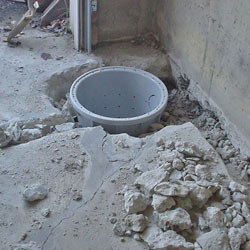 Placing a sump pit in a Manotick home