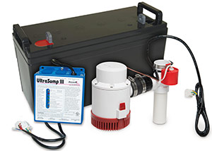 a battery backup sump pump system in Rockland
