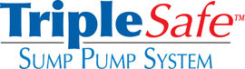 Sump pump system logo for our TripleSafe™, available in areas like Navan