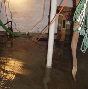 Foundation flooding in a Vanier,Ontario home