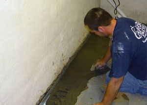 Restoring a concrete slab floor in Greater Ottawa.